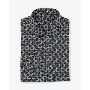 Express- Black Diamond Print Button- Down Shirt